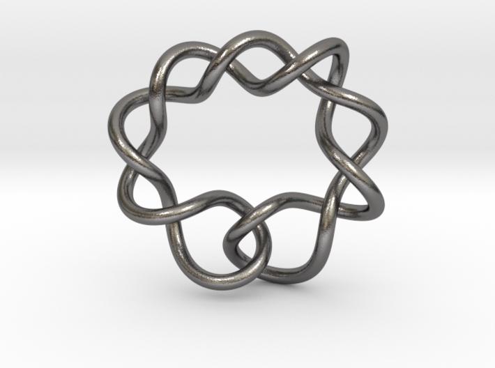 0366 Hyperbolic Knot K6.1 3d printed