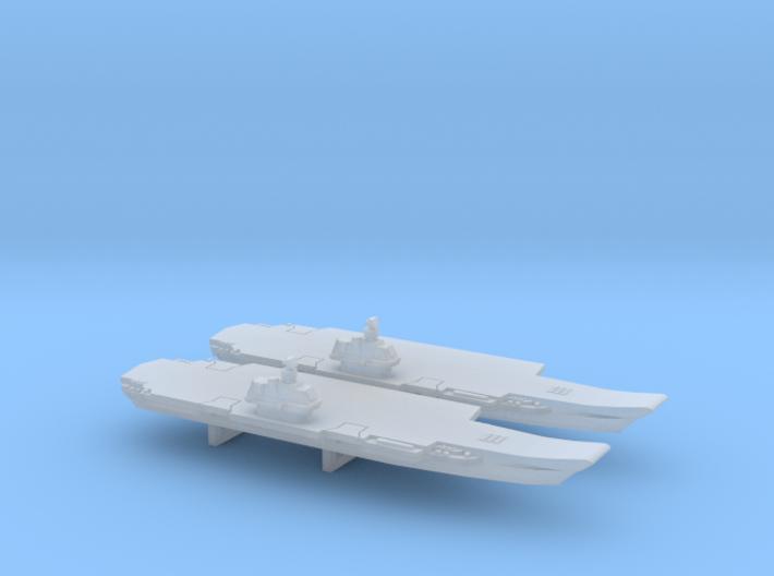Ulyanovsk-Class CV x 2, 1/6000 3d printed