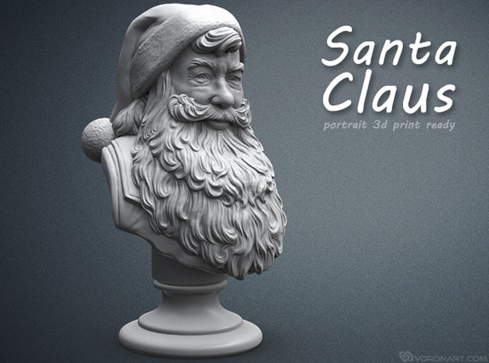 Santa Claus portrait. 15 cm tall 3d printed
