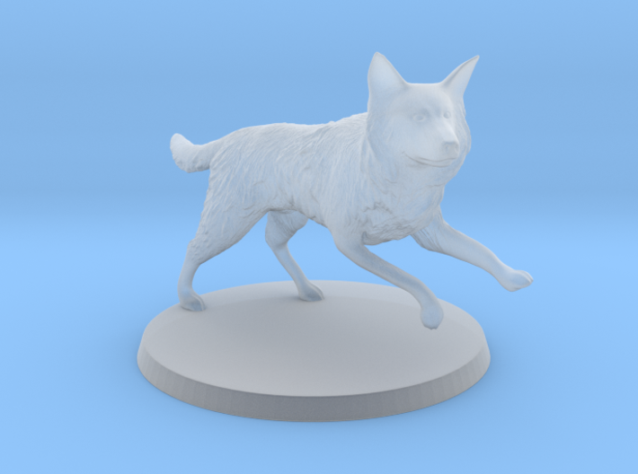 30mm Scale Running Dog Border Collie, Wolf 3d printed