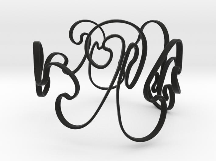 Rayleigh-Taylor Bracelet #1 - 7'' Wrist 3d printed