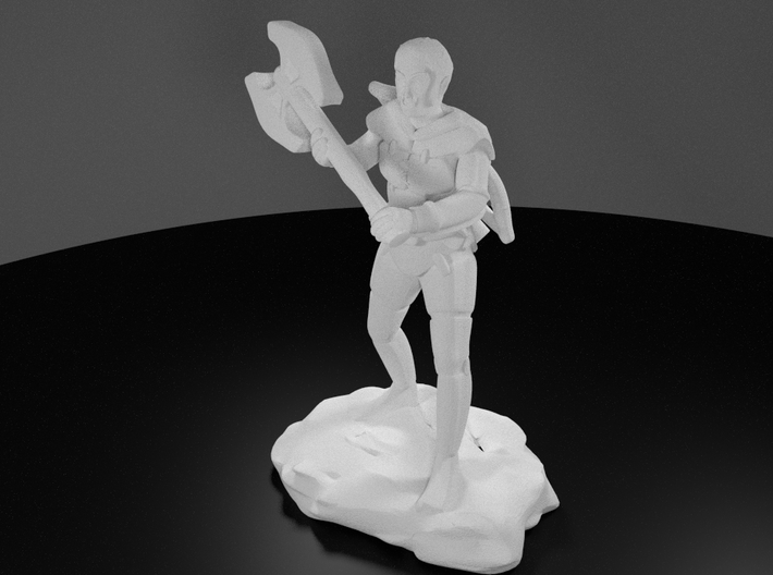 Half Orc Ranger With Greataxe and Shortbow 3d printed 3D Render