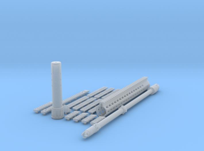 1:6 SR25 URX4 Sniper Variant kit 3d printed
