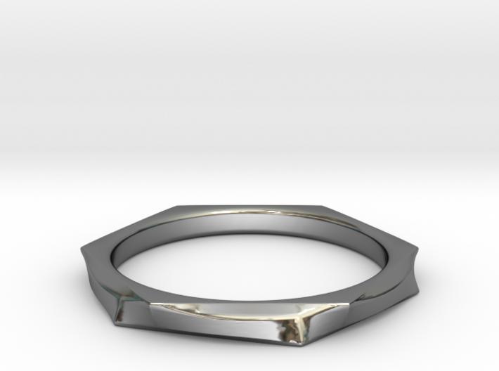 Chrome Wavy Ring 3d printed