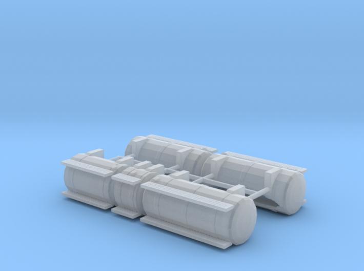 1/64th Australian Road Train Fuel Tank set 3d printed