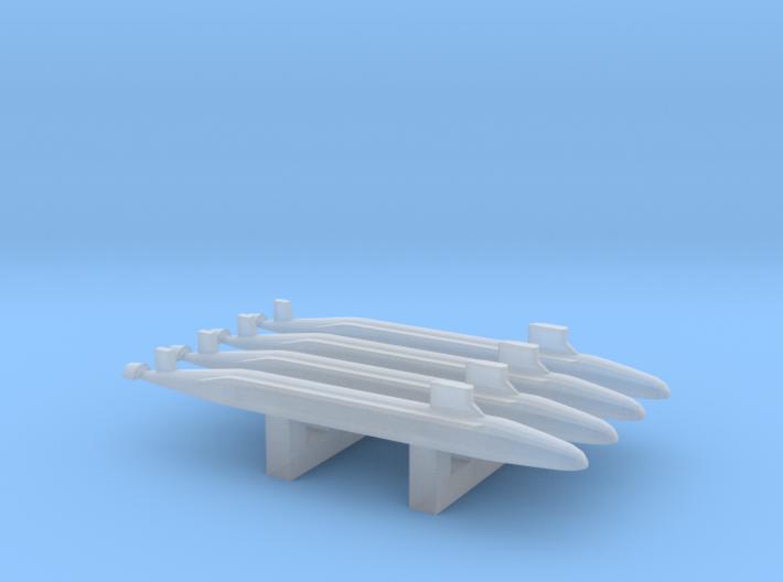 Seawolf-Class SSN x 4, 1/6000 3d printed
