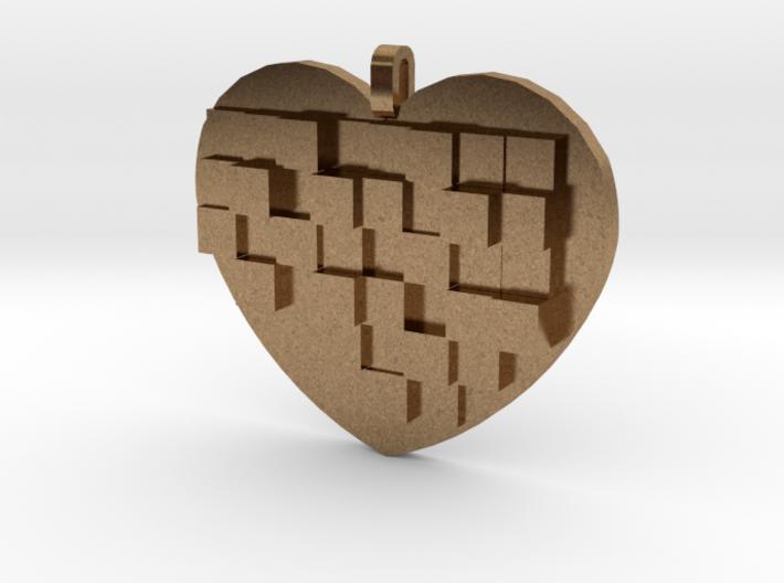 Mosaic Heart Pendant Large 3d printed