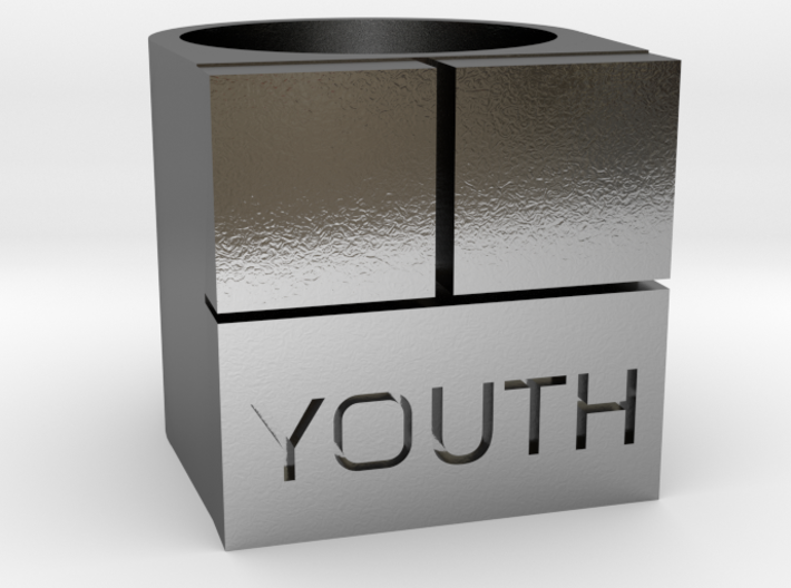 YOUTH Brick Ring - Sz. 8 3d printed