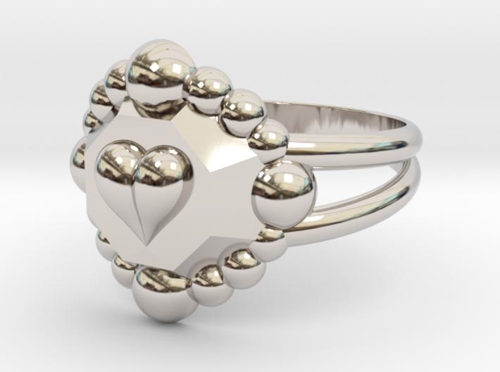 Size 10 Diamond Heart Ring E 3d printed