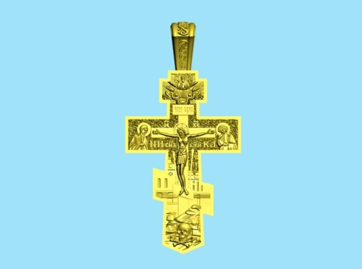 Pendant Cross 1 3d printed