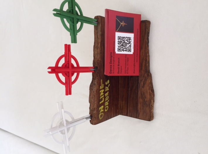 """Cathedral Cross 3"""" (no top hook) 3d printed"""
