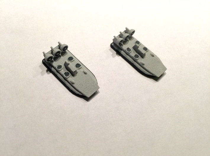 Zubr-Class LCAC x 2, 1/1800 3d printed Painted Sample