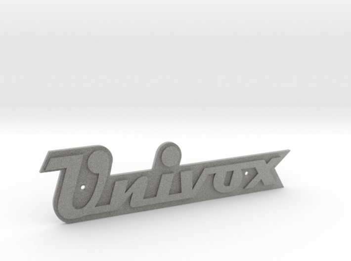 UNIVOX Cabinet/Case Badge 3d printed