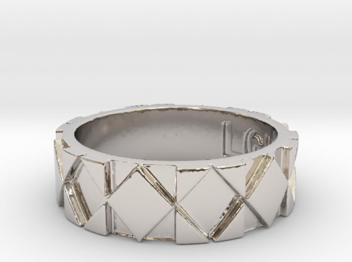 Futuristic Rhombus Ring Size 7 3d printed