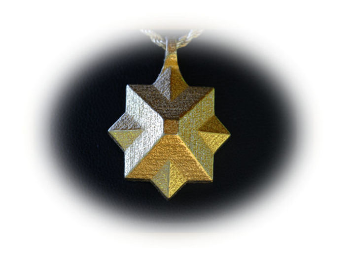 PyraStar™ (Pyramid & Star) Pendant w/ Smooth Walls 3d printed