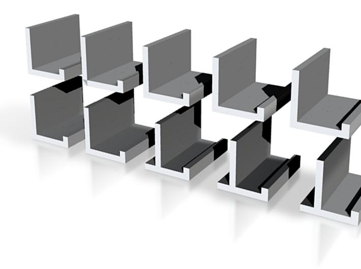 zz - Stand, Ramp, Edge 12 White 3d printed