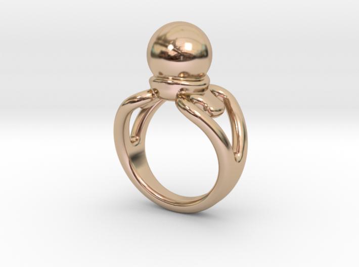 Black Pearl Ring 14- Italian Size 14 3d printed