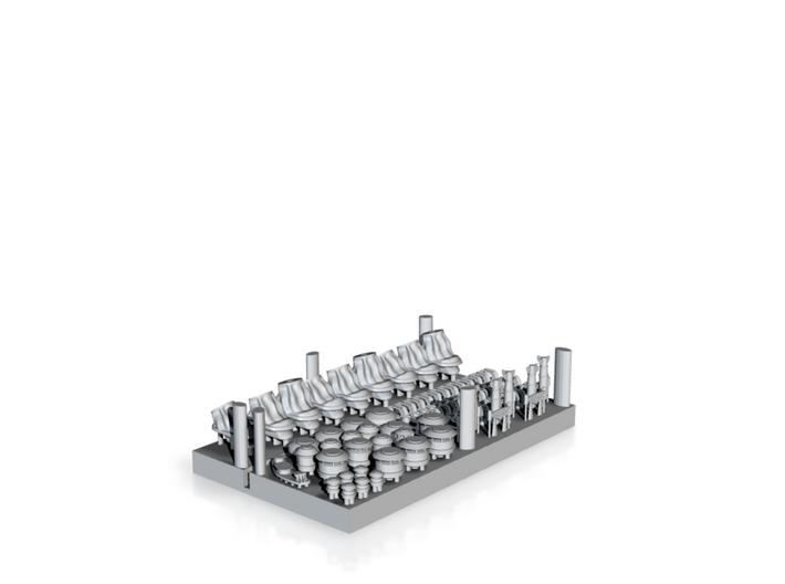 1/700 USN BB55-56 Deck Equipment Set 3d printed