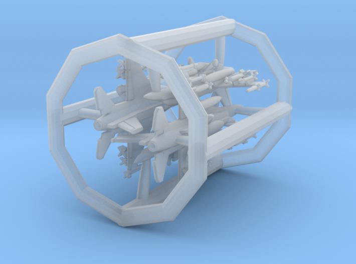 "1/700 F-16D ""Barak"" & I ""Sufa"" with Gear x4 (FUD) 3d printed"