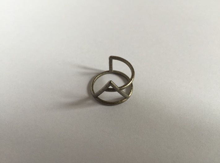 Xplore glyph ring size:small/medium 3d printed