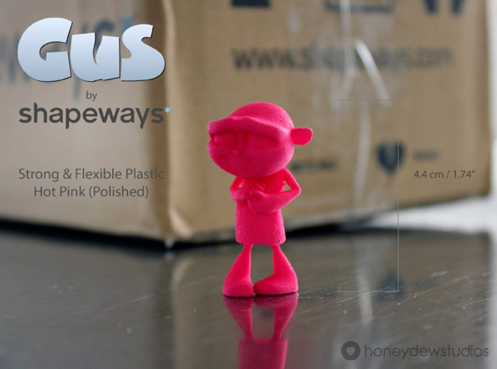 Gus Figurine - Small - Plastic 3d printed Choose your material option from the drop-down menu on the right.
