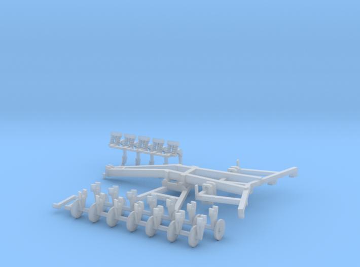 1/64 ecolo tiger disc ripper 5 shank model kit 3d printed