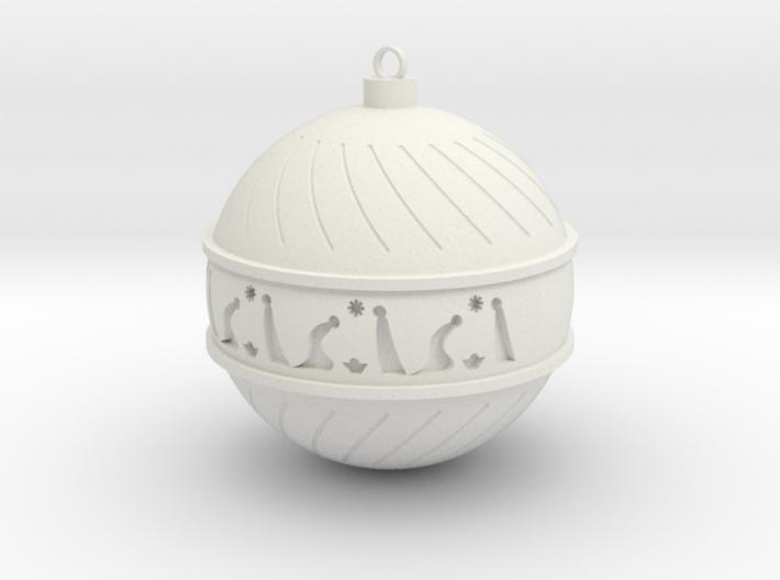 Christmas Ball with Christmas Crib! 3d printed