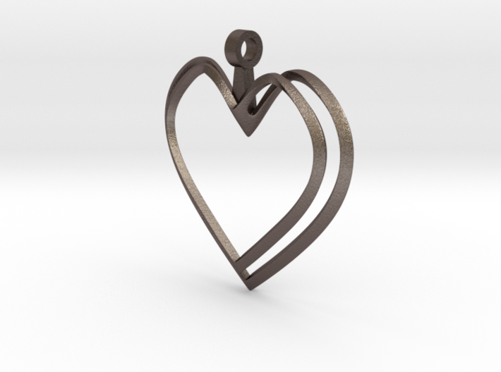 Open Heart Pendant 3d printed