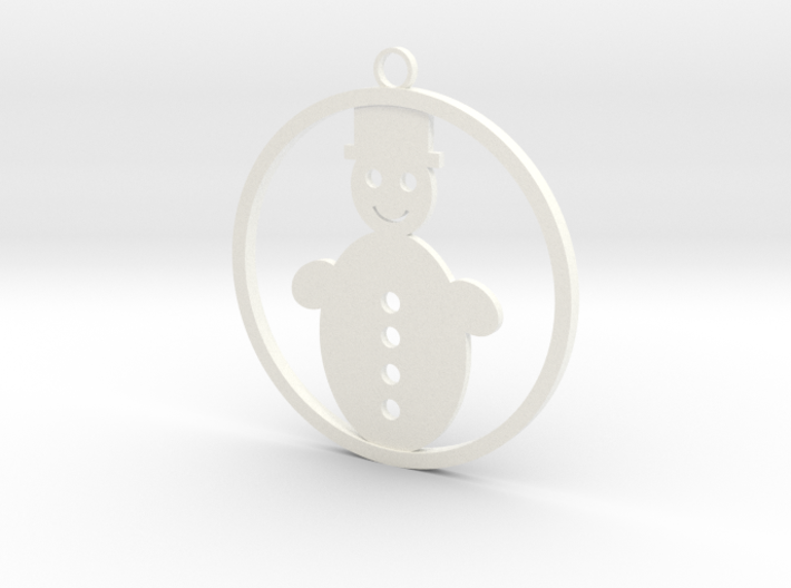Christmas Ball with snowman 3d printed