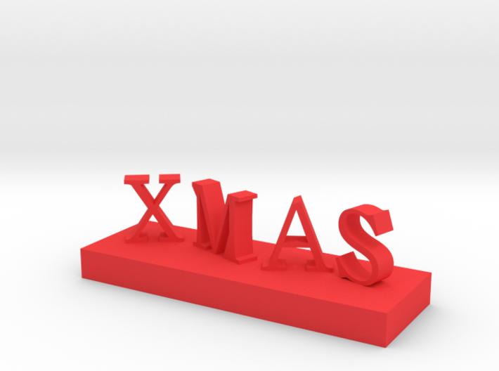XMAS Letter 2 3d printed