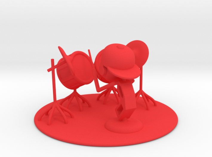 "Lala ""Trying Drums"" - DeskToys 3d printed"