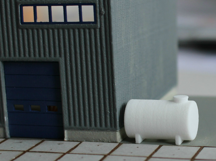 N Scale Fuel Tank 10m³ 3d printed Unpainted tank in White Strong&Flexible Polished