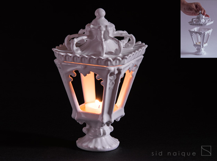 Candle Holder - Classic Lantern 01 - Tealight 3d printed Holds up to 5cm wide candle