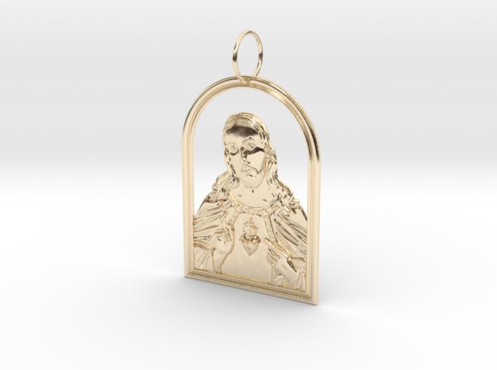 Jesus Heart Pendant 3d printed