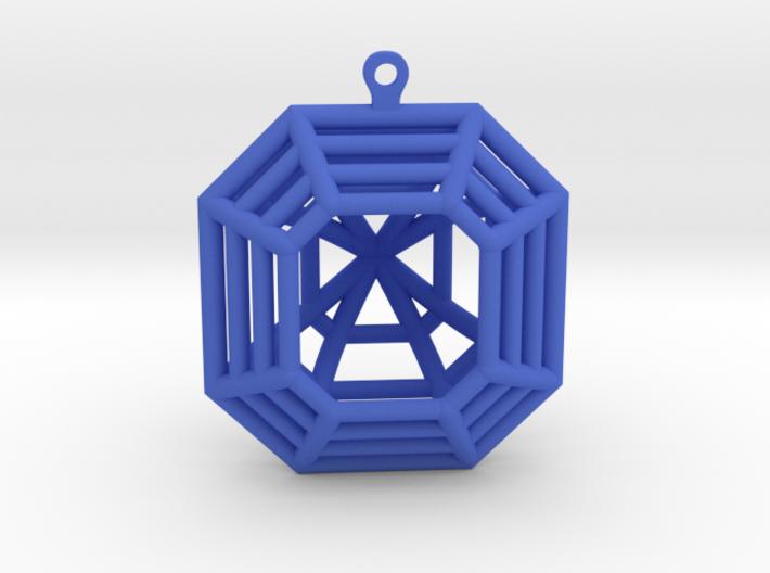 3D Printed Diamond Asscher Cut Earrings (Large) 3d printed