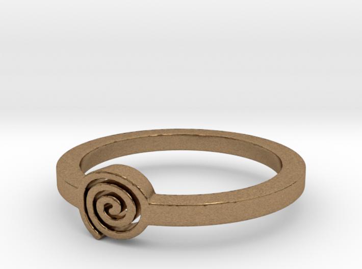 Spiral Ring Ring Size 8 3d printed