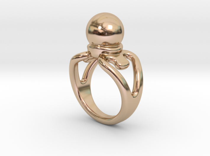 Black Pearl Ring 33 - Italian Size 33 3d printed