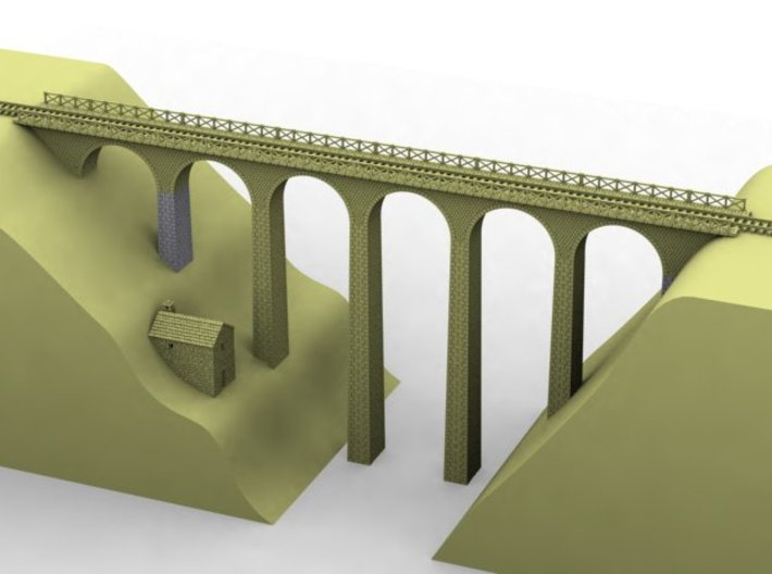 NV3M4 Small modular viaduct 1 track 3d printed