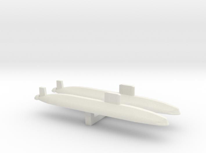 Trafalgar Class SSN x 2, 1/1800 3d printed