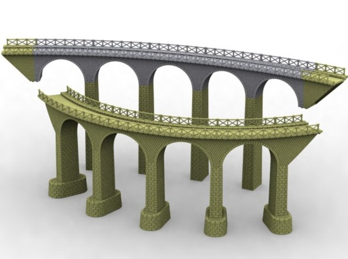 NV3M7 Small modular viaduct 1 track 3d printed