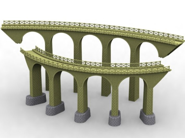 NV3M11 Small modular viaduct 1 track 3d printed