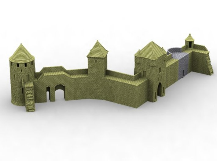 NF6 Modular fortified wall 3d printed