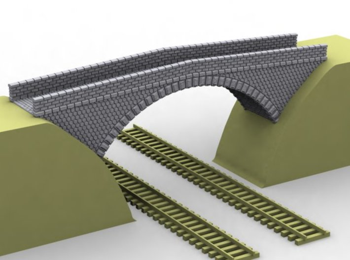 NPRT11 Road bridges over railway 3d printed