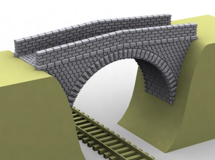 NPRT12 Road bridges over railway 3d printed