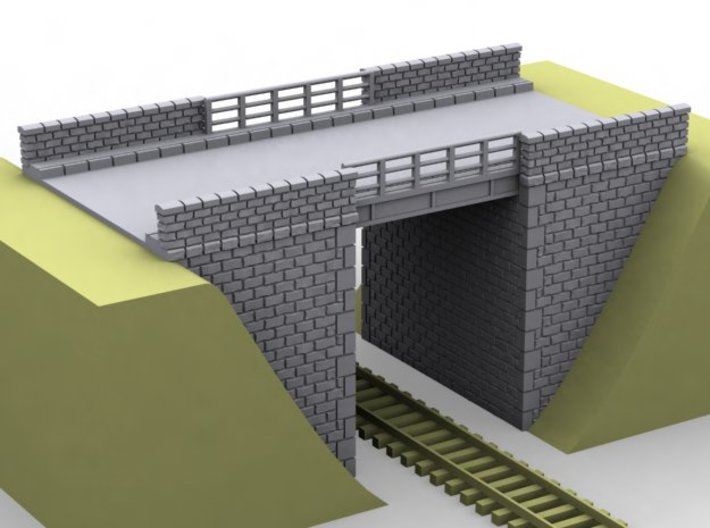 NPRT22 Road bridges over railway 3d printed