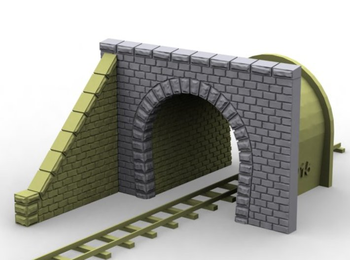 NmT12 Tunnel portal for meter gauge 3d printed