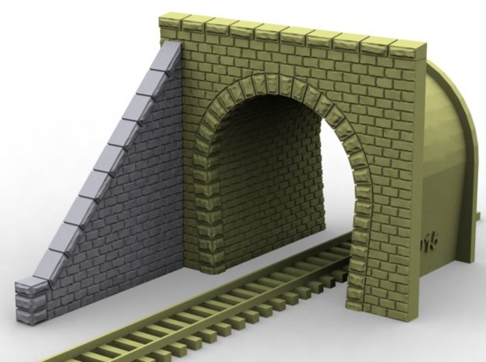 NT31 Tunnel portal for single track 3d printed