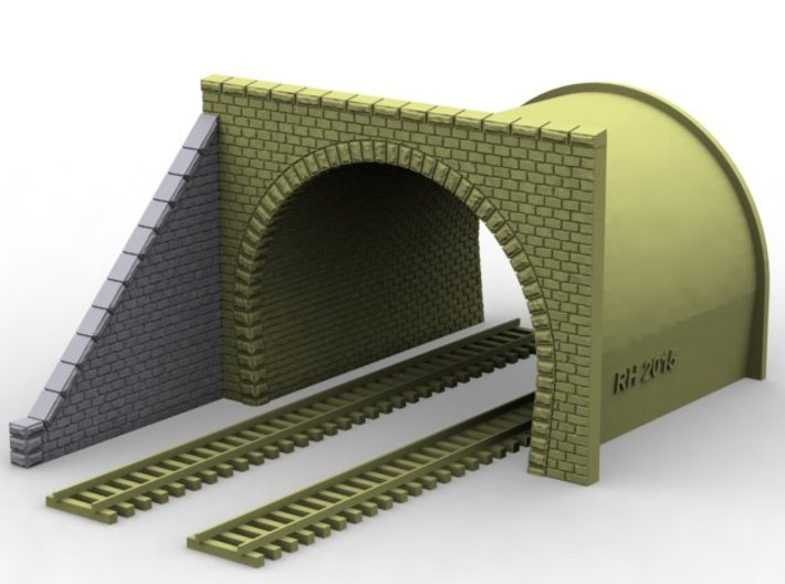 NT33 Tunnel portal for double track 3d printed