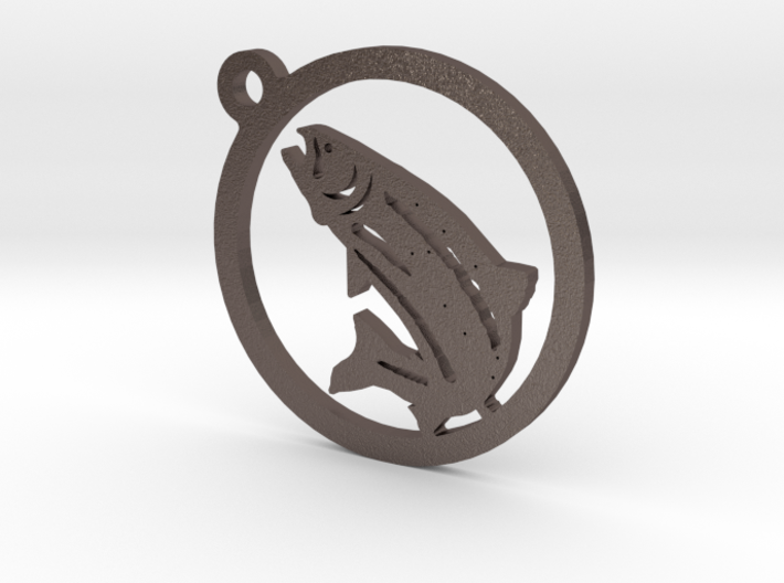 Fish Keychain 1 3d printed