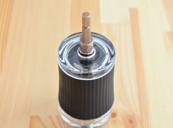 Coffee Grinder Bit For Drill Driver CDP-L 3d printed With Porlex Green Tea Grinder